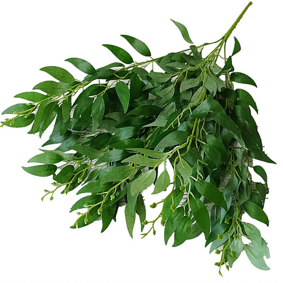 artificial leaves bouquet fake willow jungle wedding backdrop decoration christmas faux foliage vine party home decor plant Xmas