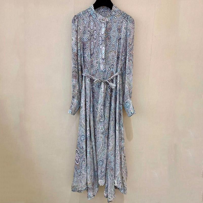 Été doux a-ligne robe pour les femmes à manches longues dame fête robe bureau dame 2019 mode femmes robes en soie