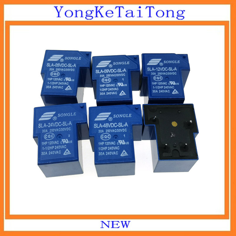 10pcs/lot New Dip4 Sla-24vdc-sl-a T90 30a Sla 5v 9v 12v 24v 48v Sla-12vdc-sl-a To Enjoy High Reputation In The International Market