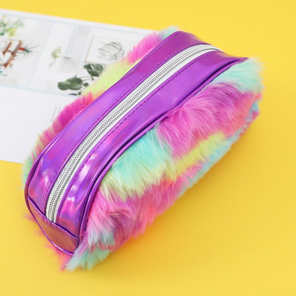 Faux Fur Cosmetic Pouch Bag