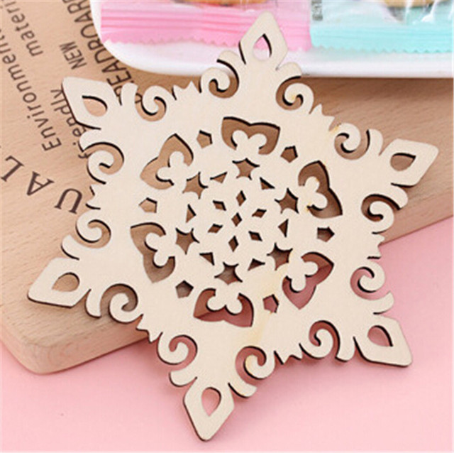 100pcs/lot Snowflake Wood Mug Coasters Drink Tea Cup Mat Vintage Dinner  Placemats For Table Great Pictures