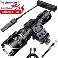 68000lm 강력한 led 전술 손전등 방수 토치 usb 충전식 스카우트 라이트 토치 5 모드 손전등 18650 배터리