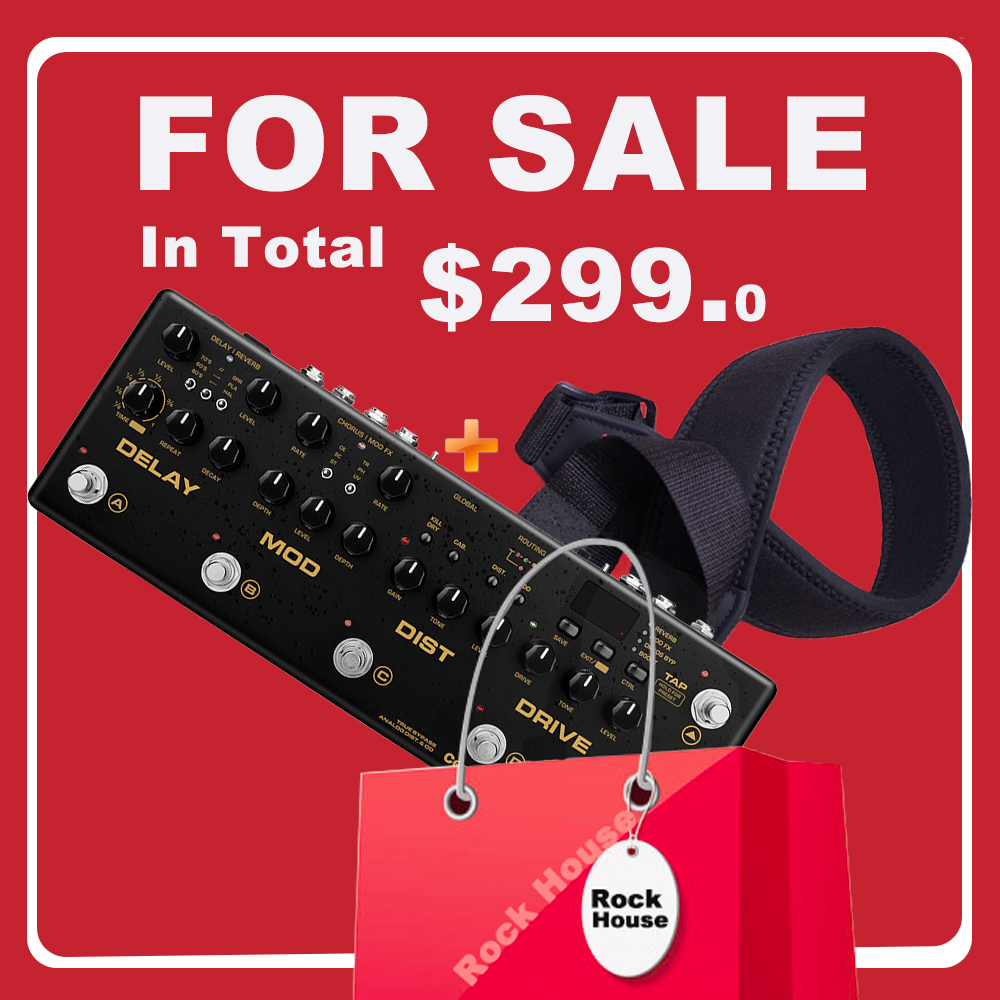 NUX Cerberus Multi Function Guitar Effects Pedal Processor Integrated Analog Overdrive Distortion Modulation and Delay Modules electric guitar effector multi function guitar composition upgrade stylesound tuner drum machine integrated digital effects