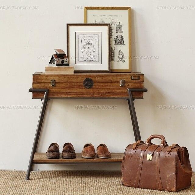 American Country Furniture Vintage Clothing Storage Rack Shoe Racks