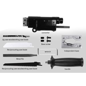Image 4 - Reciprocating Saw Attachment Change Electric Drill Into Reciprocating Saw Jig Saw Metal File For Wood Metal Cutting