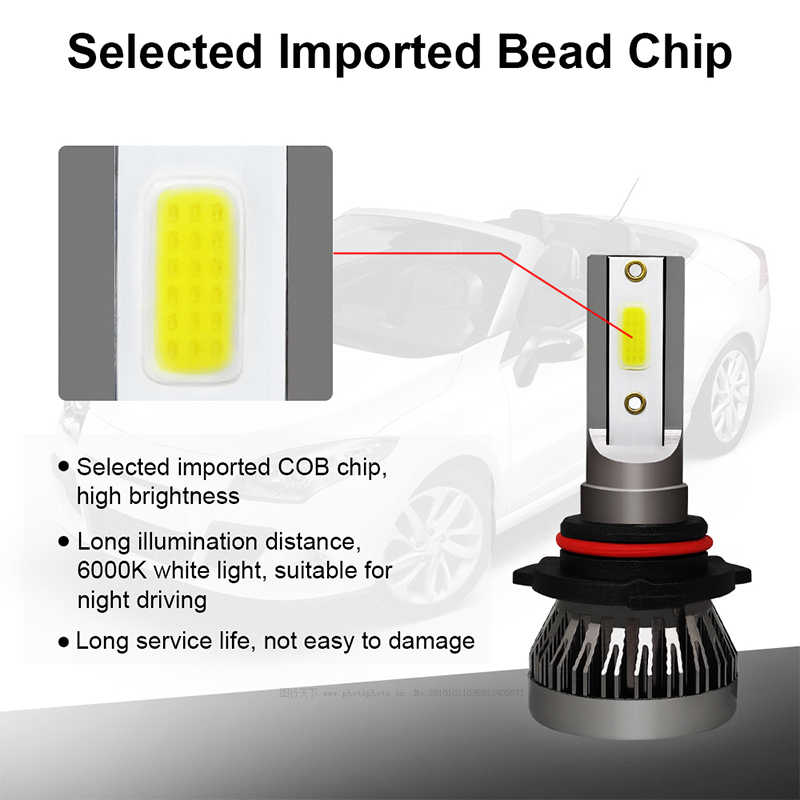 2PCS Car headlight Mini Lamp H7 LED Bulbs H1 LED H8 H11 Headlamps Kit 9005 HB3 9006 HB4 6000k Fog light 12V LED Lamp 36W 8000LM