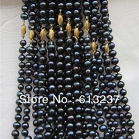 Hot Free Shipping New 2014 Fashion Style Diy Wholesale 10PCS 8 9mm TAHITIAN Pearl Necklace 18