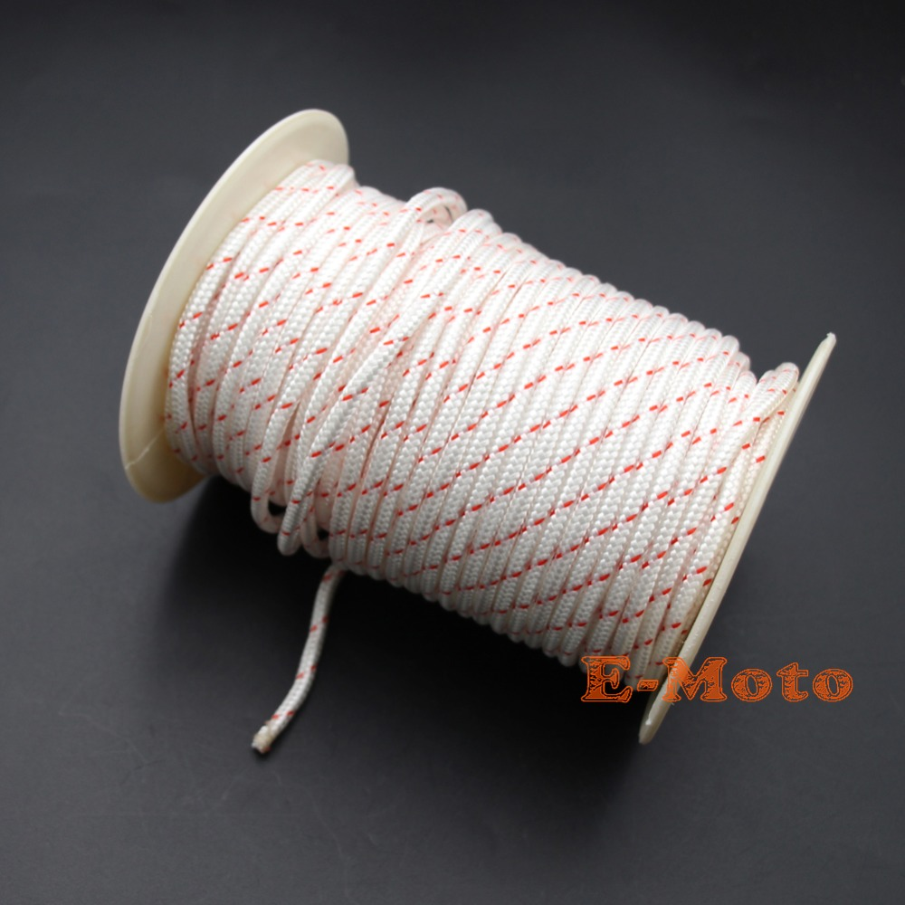 PULL CORD STARTER RECOIL ROPE 4.5MM Ø X 1 METER LAWNMOWER STRIMMER,CHAINSAW ETC