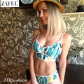 ZAFUL Ventas Calientes Cremallera Tropical Estilo Brasileño Bikini Set Empuja Hacia Arriba Traje de Baño traje de Baño de la Playa Traje de Baño Maillot De Bain Femme