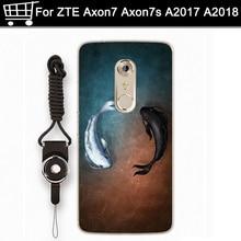 cartoon phone cases For ZTE AXON 7 AXON7 A2017 case TPU soft back cover For AXON 7S A2018 shell case cover full capas fundas axon a 871