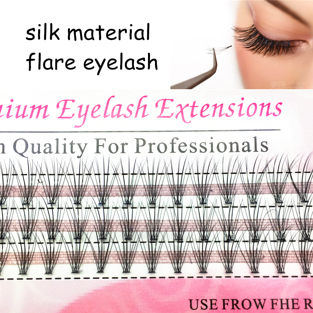 High Quality Of Silk Material Flares Eyelashes Natural Soft Bundles