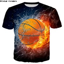Ice Fire basketball Hoodies 3D Men Women Sweatshirts Fashion Pullover Autumn Tracksuits Harajuku T shirt Casual top(China)