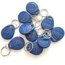 Free Shipping  10PCS/Lot 125Khz Proximity EM4100 Chip( only Read) ABS RFID ID Token /Keyfob /Keychain For ID Card Reader
