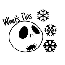 hers nightmare before christmas creative window stickers - Nightmare Before Christmas Furniture