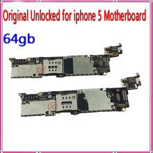 64gb Original Unlocked for Apple iphone 5 5g Motherboard with IOS system,for iphone 5 5g Mainboard with Chips,Free Shipping