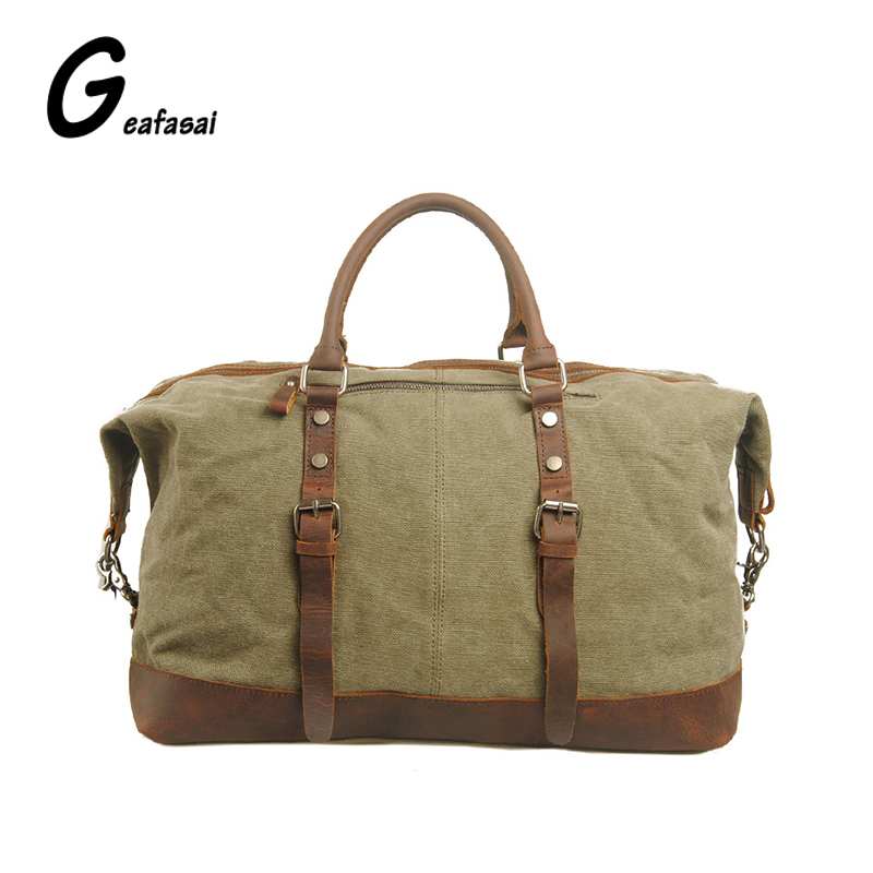 Brand army green blue High capacity Vintage classic handbags canvas travel Duffle encamp bivouac shoulder bags for men unisex army green vintage women