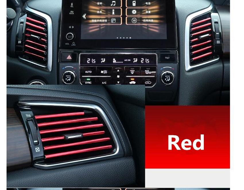 10pcs Car Air Outlet Trim Strip Car Trim Strip For Cadillac Ats Srx Lincoln Mk Remote For Ssangyong Kyron Rexton Korando Actyon Modern Techniques