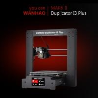 Wanhao I3 PLUS Mark2 Mark II V2.0 3D Printer With Auto Level Touch Screen Desktop DIY FDM 3D Printer Machine Filament For Free