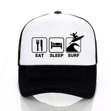 Eat Sleep Surf outdoor motion hat summer sun cap Men women Fashion Mesh trucker Hat