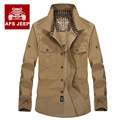 Male Military style casual long-sleeved shirt male shirt upscale men's cotton refined sulfur