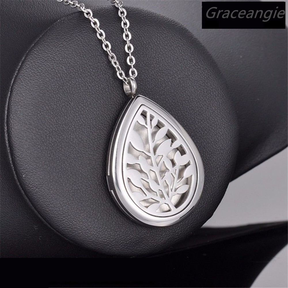 Fashion Man Gift 316L Stainless Steel cirrus Essential Oil Diffusing Perfume momery Pendant Floating Locket free 10pcs felt pads