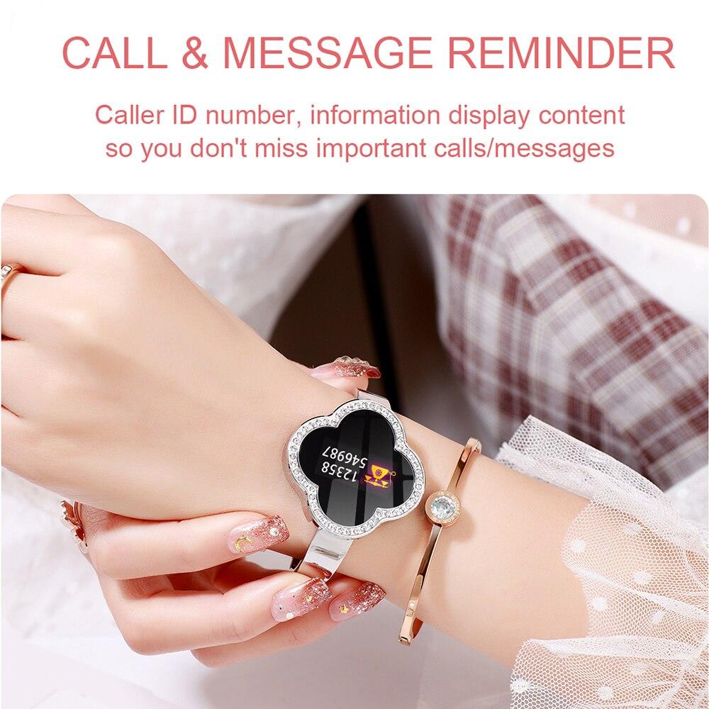 2019 Sport Bracelet montre femmes dame LED étanche Bracelet intelligent fréquence cardiaque pression artérielle podomètre horloge pour Android iOS - 6