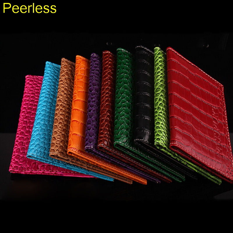 Office & School Supplies Qualified Peerless Men Business Card Holder Women Pu Leather Id Credit Card Holder