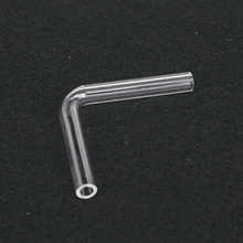 90 градусов локоть Лаборатория Стекло газ направляющая трубка Адаптер стеклянная посуда диаметр 7 мм длина 44 мм