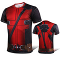 Mens 2016 Movie Deadpool Cosplay Slim Printing Short Sleeve O-Neck T-Shirt Tops Tee Shirts