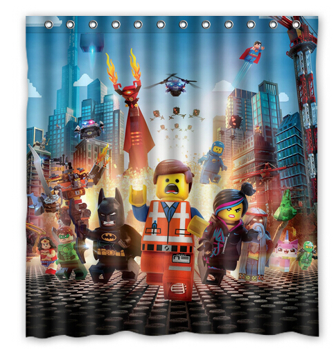 Free Shipping LEGO Marvel Super Heroes Custom Shower Curtain Home ...