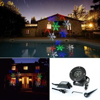 Snowflake Projector Waterproof Christmas Lights LED snow Light Romantic Lawn Lamps for Home with shopping bags