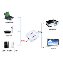 Kebidumei – MINI adaptateur connecteur convertisseur 1080 P, avec Audio, compatible HDMI vers VGA, pour PC portable, pour projecteur HDTV