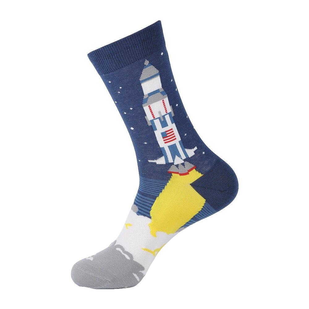 VPM New Cotton Men's <font><b>Socks</b></font> Happy Funny Poop Alien Comb Dress for Male Wedding Gift
