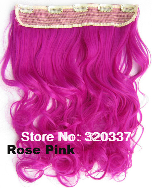 synthetic hair clip in extensions