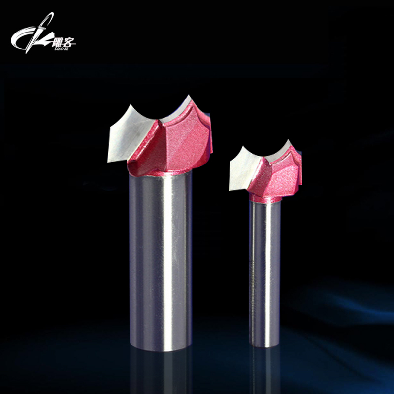 1/4 Shank Engraving Tools Round Knife Woodworking Milling Cutter for Wood Furniture Metal Aluminium Stainless Steel End Mill3155