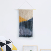 Macrame Wall Hanging Decoration Wall Art Handmade Tapestry Murale with Lace Fabrics for Home Wedding Decor