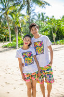 Spring And Summer Personalitylovers 100 Cotton T Shirt Shirt Beach Couple Clothes Class Service