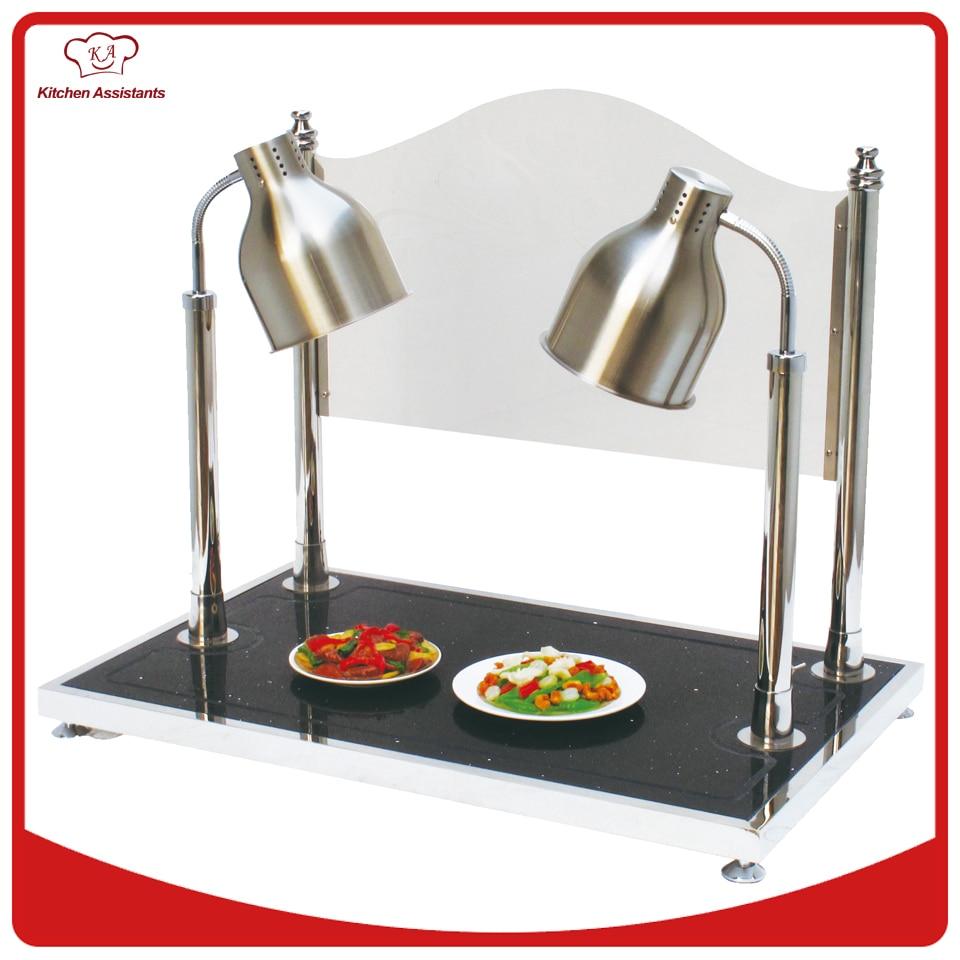 Lampes de chauffage de nourriture de Double dacier inoxydable de HD2 et Station de sculptureLampes de chauffage de nourriture de Double dacier inoxydable de HD2 et Station de sculpture