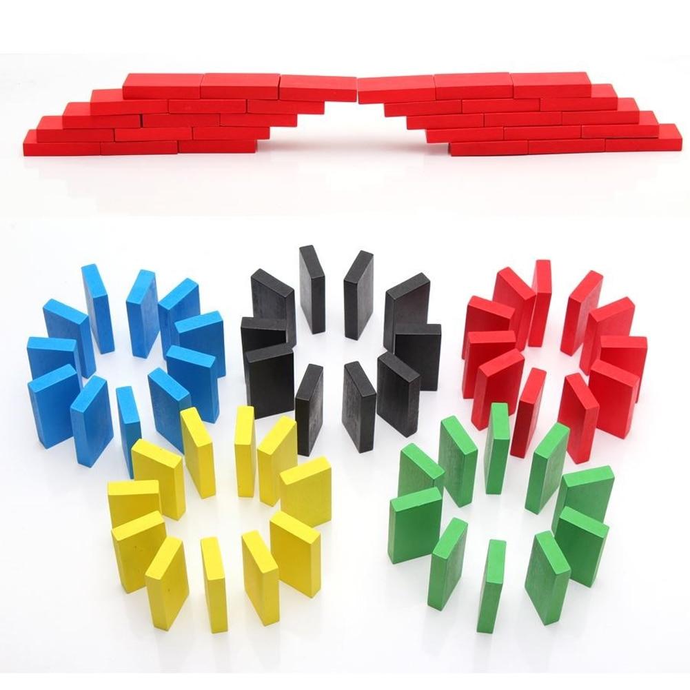 240 шт./компл. игрушки домино деревянный пазл для детей игрушки Цветной домино блоки Наборы раннего обучения домино образовательные игрушки для детей