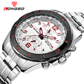 LONGBO Military Men Stainless Steel Band Sports Quartz Watches Dial Clock For Men Dynamic Dial Watch Relogio Masculino 80249