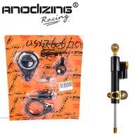 CNC Steering Damper Complete Set For SUZUKI GSXR600 2006 2010