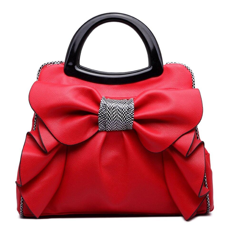 Hot Sale Big totes for women Bags fashion bow-knot women's sweet handbag female Luxury Crossbag Shoulder Bag bolsa feminina hot sale feather pendant big butterfly print batwing loose coat poncho cape for women