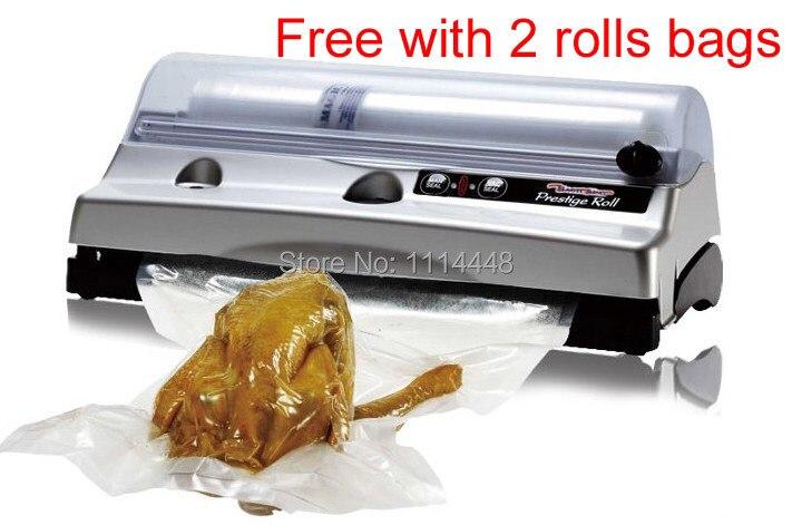 New 2014 Household Vacuum Sealer FoodSaver Food Preserver Vacuum sealing machine + 6 roll bags additional