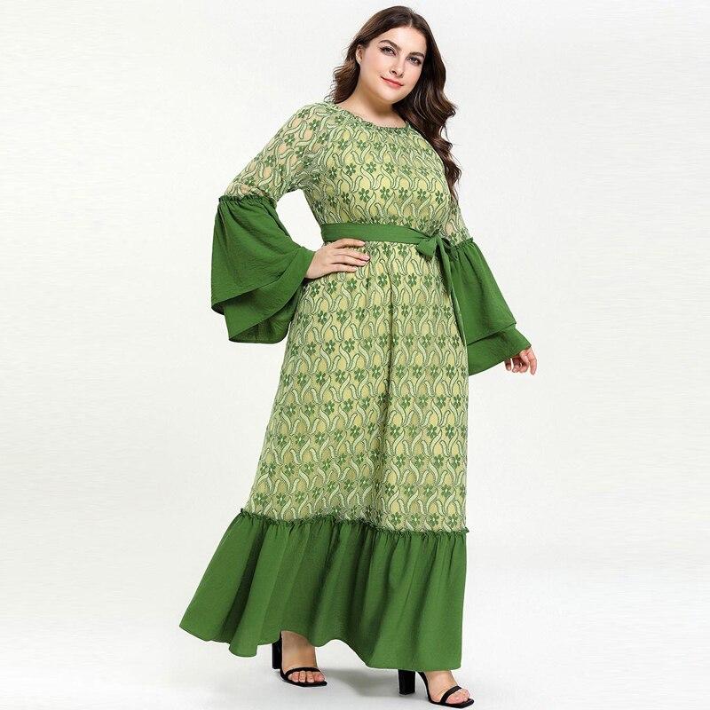 Kaftan Abaya Islam Muslim Dress Ramadan Arabic Hijab Dress Abayas For Women Elbise Turkish Islamic Clothing