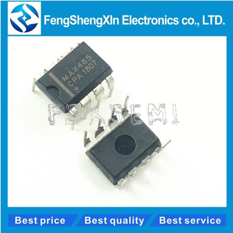 10 шт./лот MAX485CPA DIP-8 MAX485 низкая мощность, Slew-Rate-Limited RS-485/RS-422 приемопередатчики