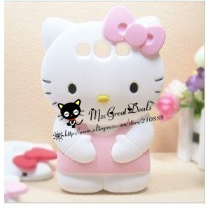 3d Samsung Galaxy S3 I9300 TPU Soft Case/cover/faceplate/protector-white/pink