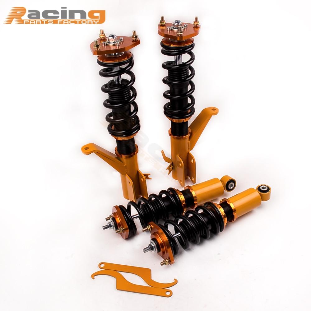 все цены на Coilover Kits For Honda Civic EM2 2001 - 2005 Acura RSX 2002 03 04 05 2006 Coil Struts Suspension Damper Force Shock Absorber онлайн