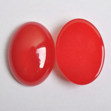 30x22MM Natural Luck Red Stone Bead Oval Cabochon CAB Jewelry Making 1PCS H062