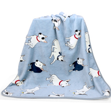 Bull Terrier Print Soft Warm Cozy Dog Blanket for Bed Couchs Pet Cat Cover Sofa bed 2 Color