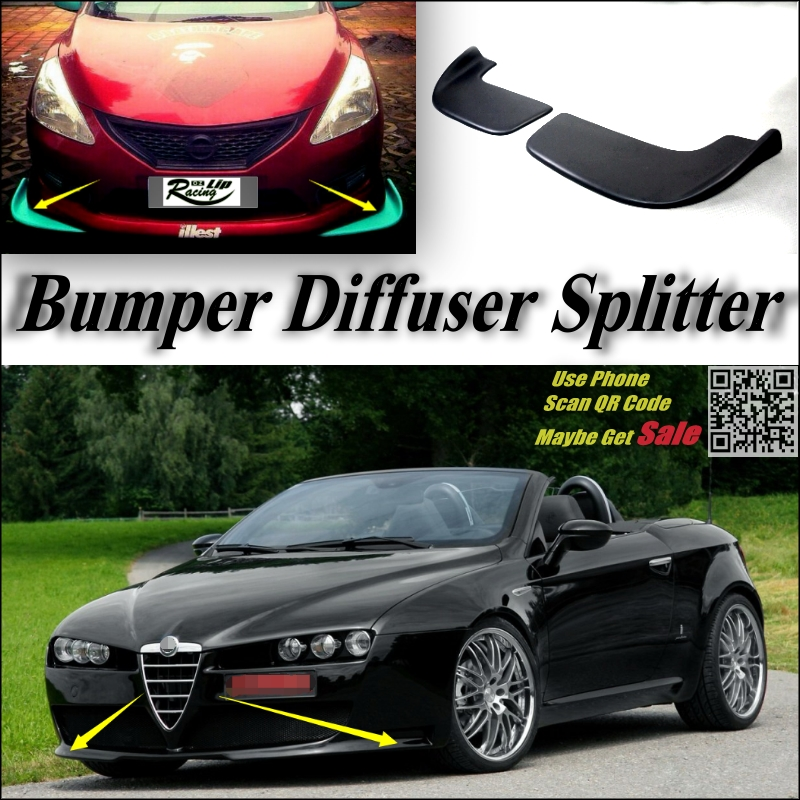 Car Splitter Diffuser Bumper Canard Lip For Alfa Romeo GTV
